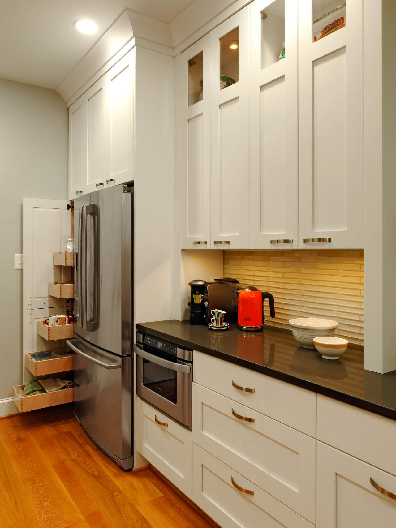 staining kitchen cabinets pictures ideas  tips from hgtv  hgtv - staining kitchen cabinets