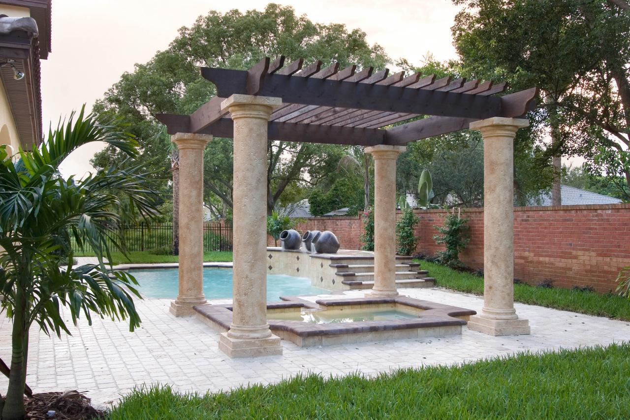 Mediterrane Pergola pergola mediterran garden styles style plants herbs garden plants