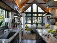 Contemporary Open-Plan Kitchen and Dining Room