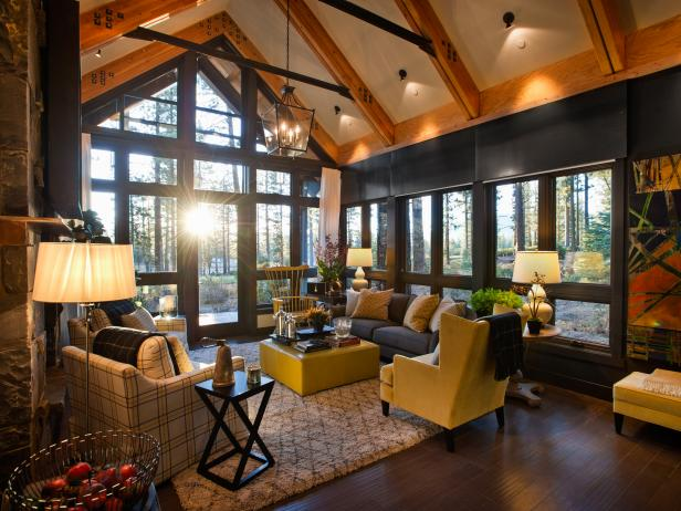 Rustic living room ideas decorating hgtv Rustic modern living room design