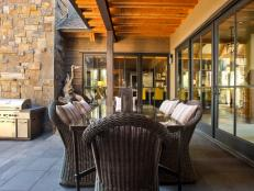 Outdoor Kitchen and Dining Area at HGTV Dream Home 2014