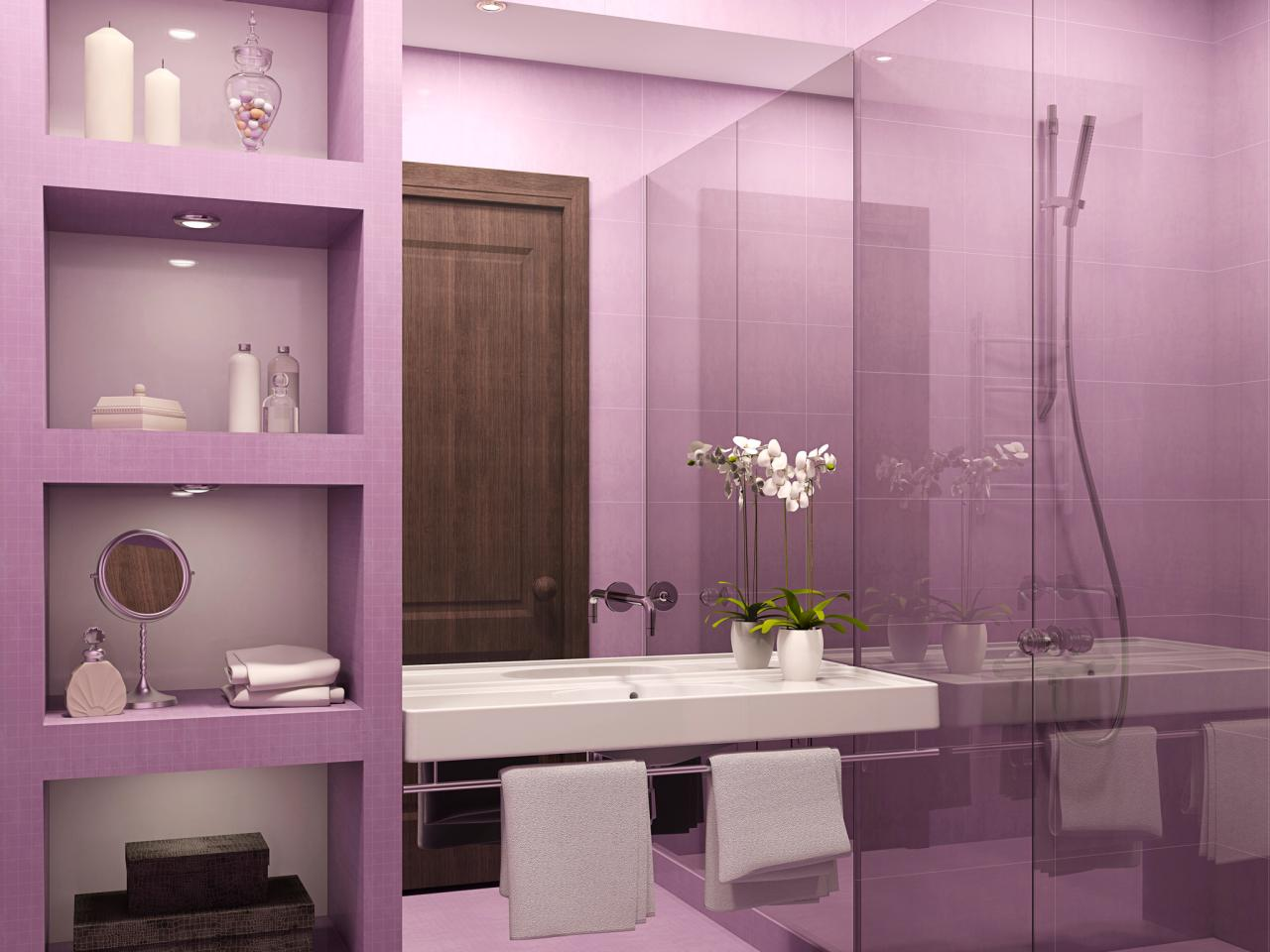 Bathroom Decorating Ideas Colours purple bathroom decor: pictures, ideas & tips from hgtv | hgtv