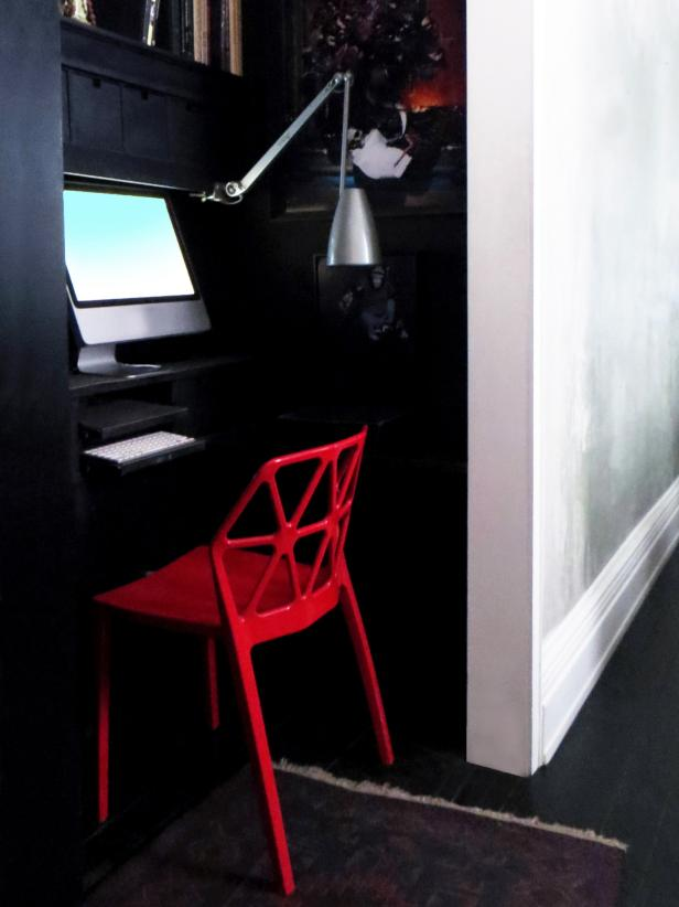 Small Home Office in Former Closet