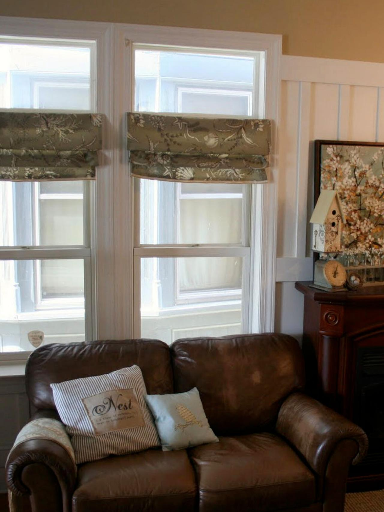 DIY Window Curtains From Canvas Or Dropcloth