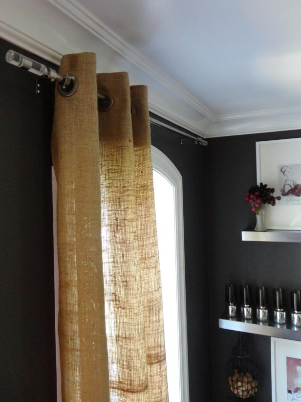 Burlap Curtains Are An Affordable Way To Get A Designer