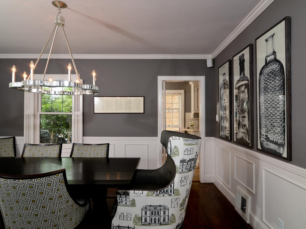 Photo page hgtv for Dining room ideas in grey