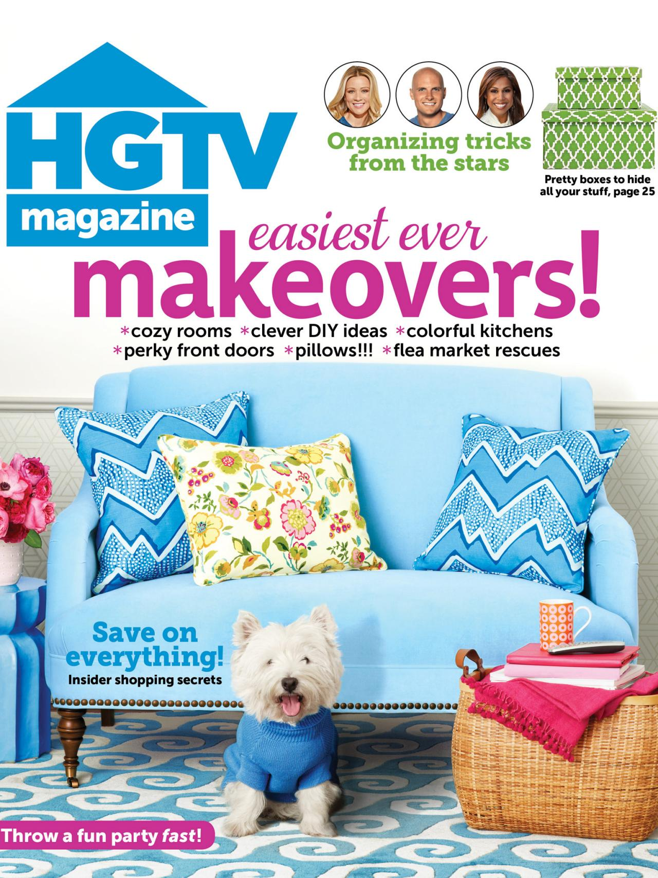 Hgtv magazine january february 2014 hgtv Home decorating magazines online
