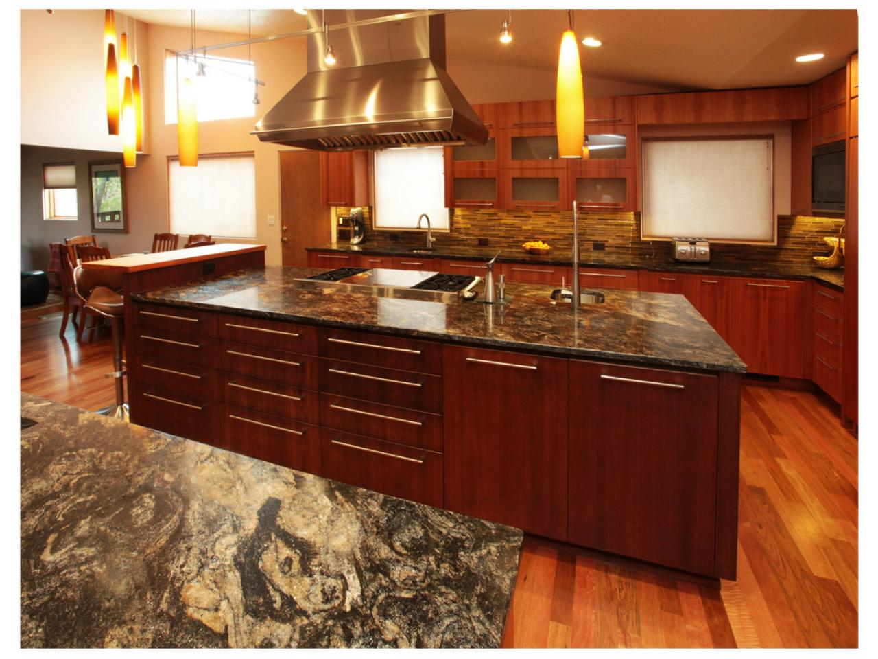 Kitchen colors with brown cabinets islands carts dark modern cabinet designs best free - Kitchen island color ideas ...