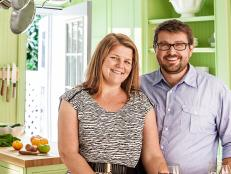 Homeowners Jason and Lauren Frye in Their Kitchen