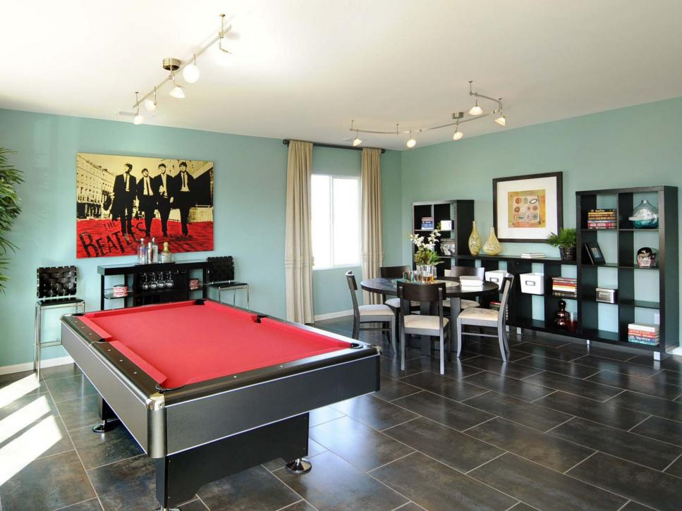 Kids game room ideas game rooms for kids and family hgtv for Family game room ideas