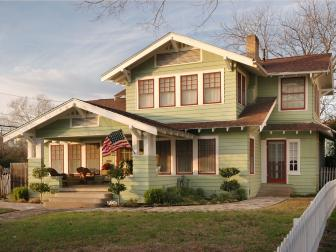 Light Green Craftsman Home