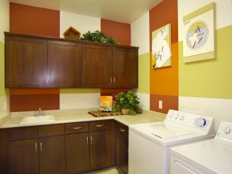 Traditional Utility Room With Storage