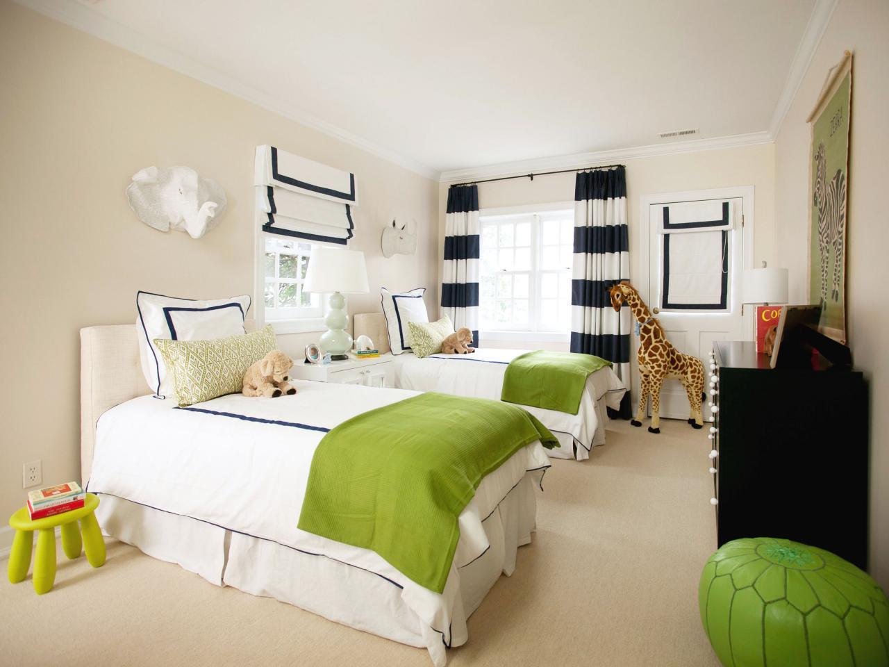 Plain Kids Bedroom Jungle Theme With Slide On Ideas