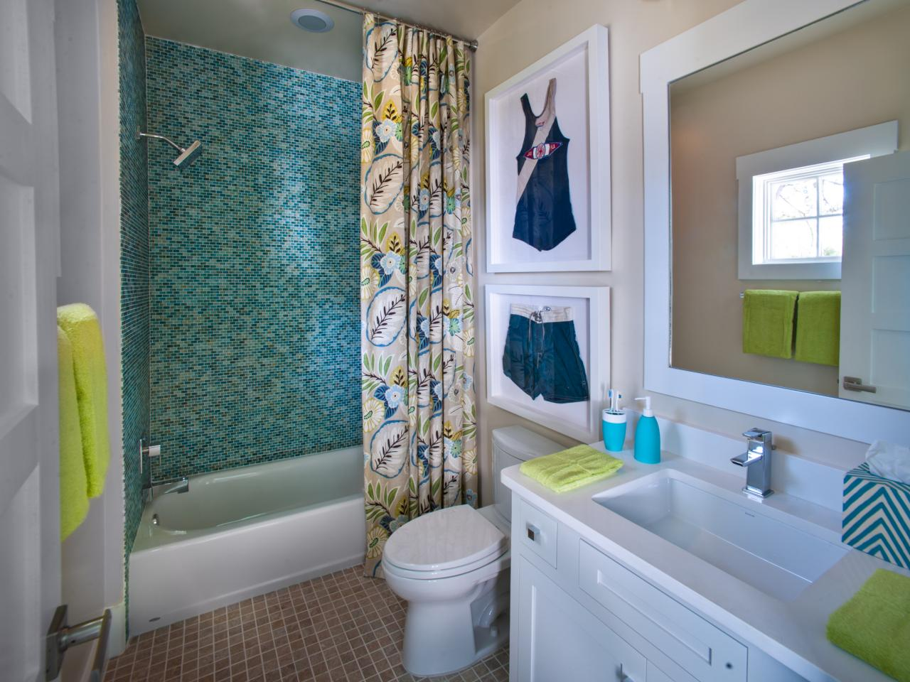 Bathroom Decorating Ideas Blue boy's bathroom decorating: pictures, ideas & tips from hgtv | hgtv