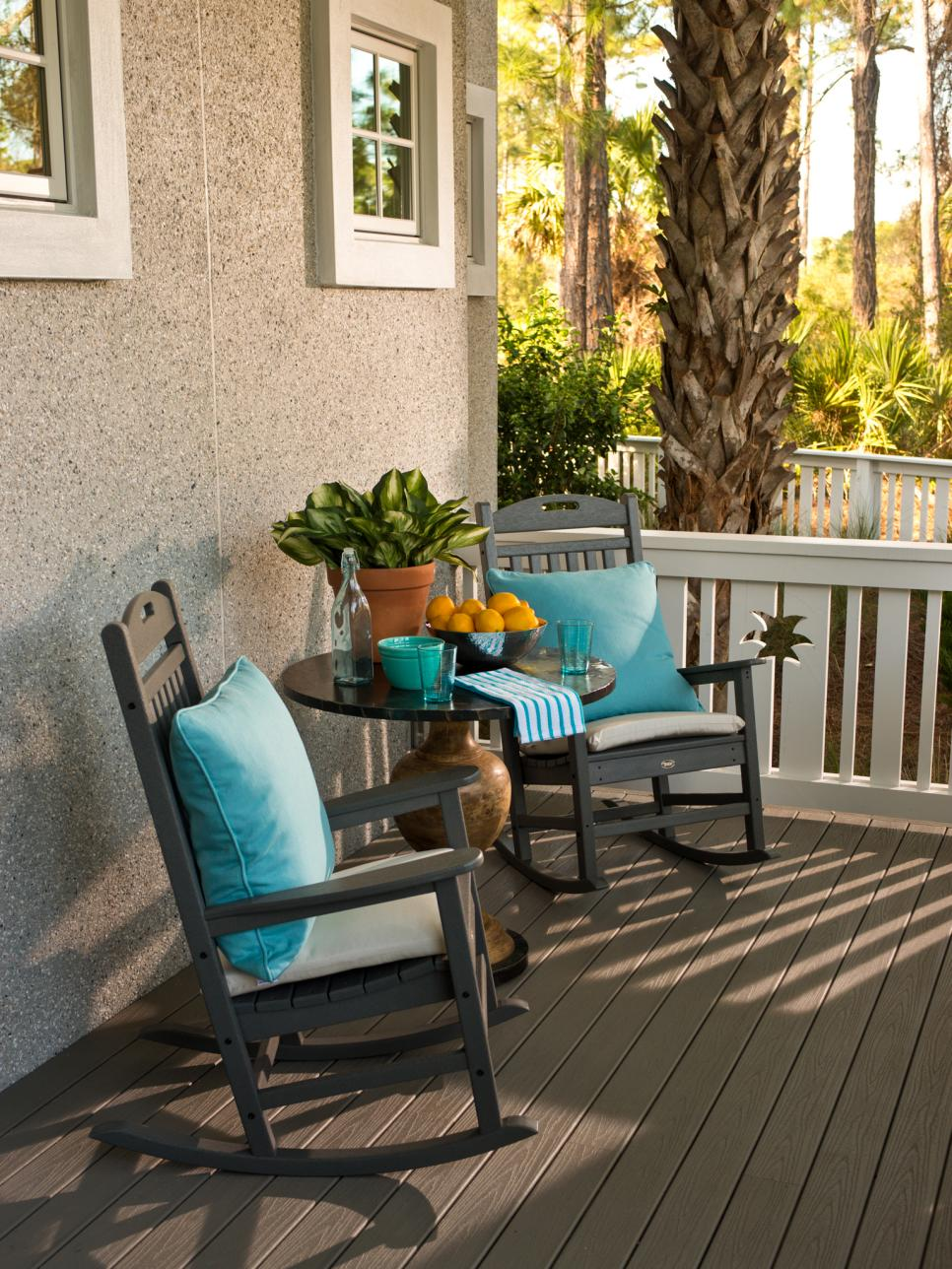 Black front porch chairs - Hgtv Smart Home Front Yard Pictures Hgtv Smart Home Hgtv