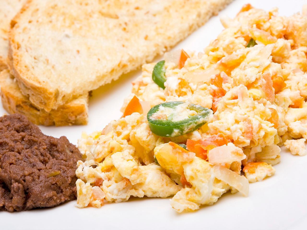 Spanish-Style Scrambled Eggs With Chorizo and Manchego Fricos | HGTV