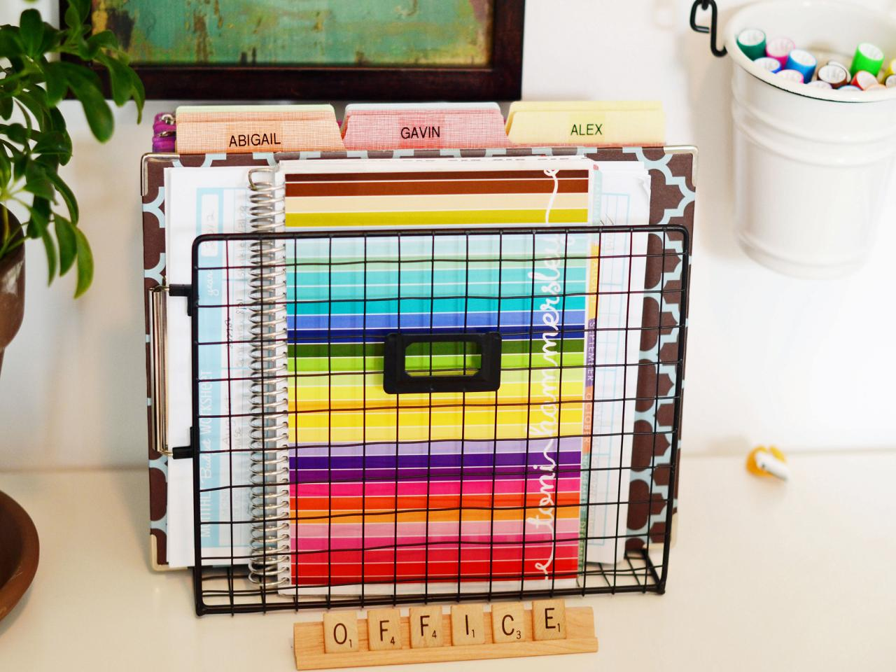 10 home office hacks to get you organized now hgtv Organizing home