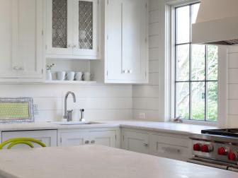 Brilliant White Kitchen With Shiplap Walls
