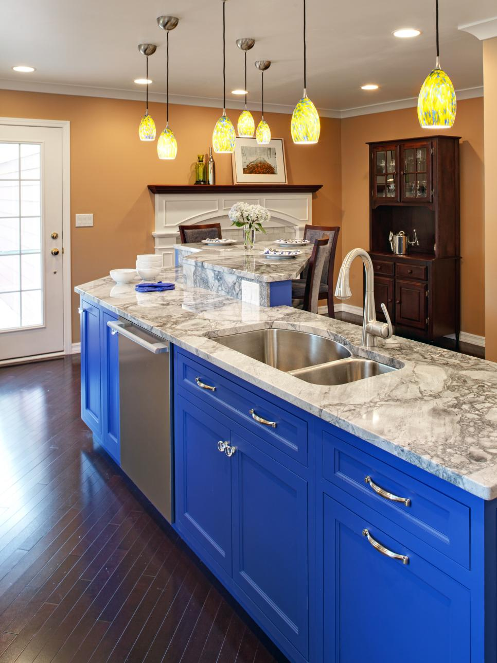 Colored Kitchen Cabinets hgtv's best pictures of kitchen cabinet color ideas from top