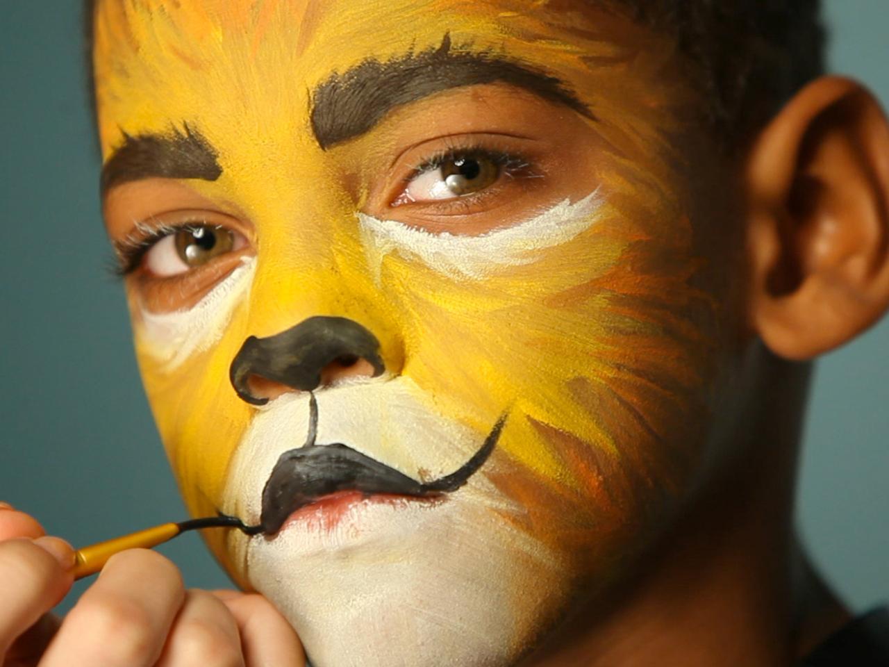Kids Halloween Makeup Tutorial Lion HGTV