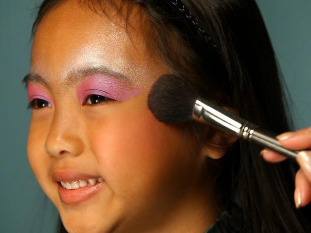 Adding Blush to Fairy Princess Halloween Costume