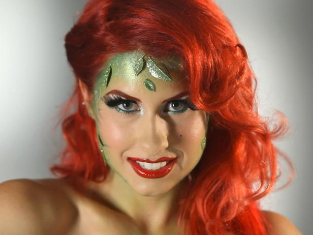 This Halloween, go as the enchanting comic book and feature film villainess. Get this glam garden goddess look for your costume party.