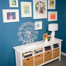 Blue Gallery Wall