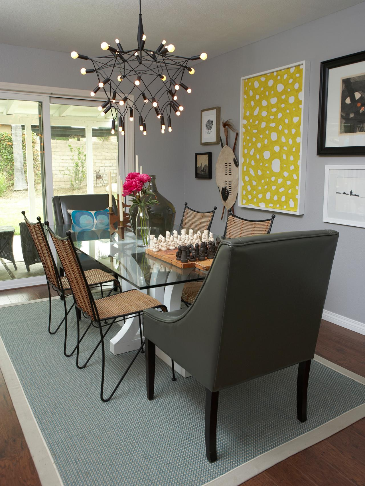 Photos hgtv for Dining room ideas in grey
