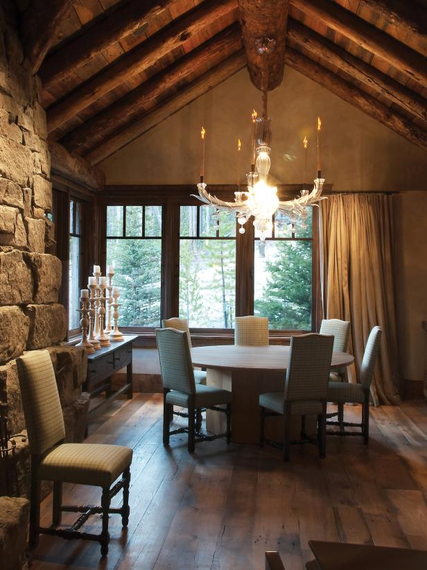 Rustic Meets Formal Dining Space
