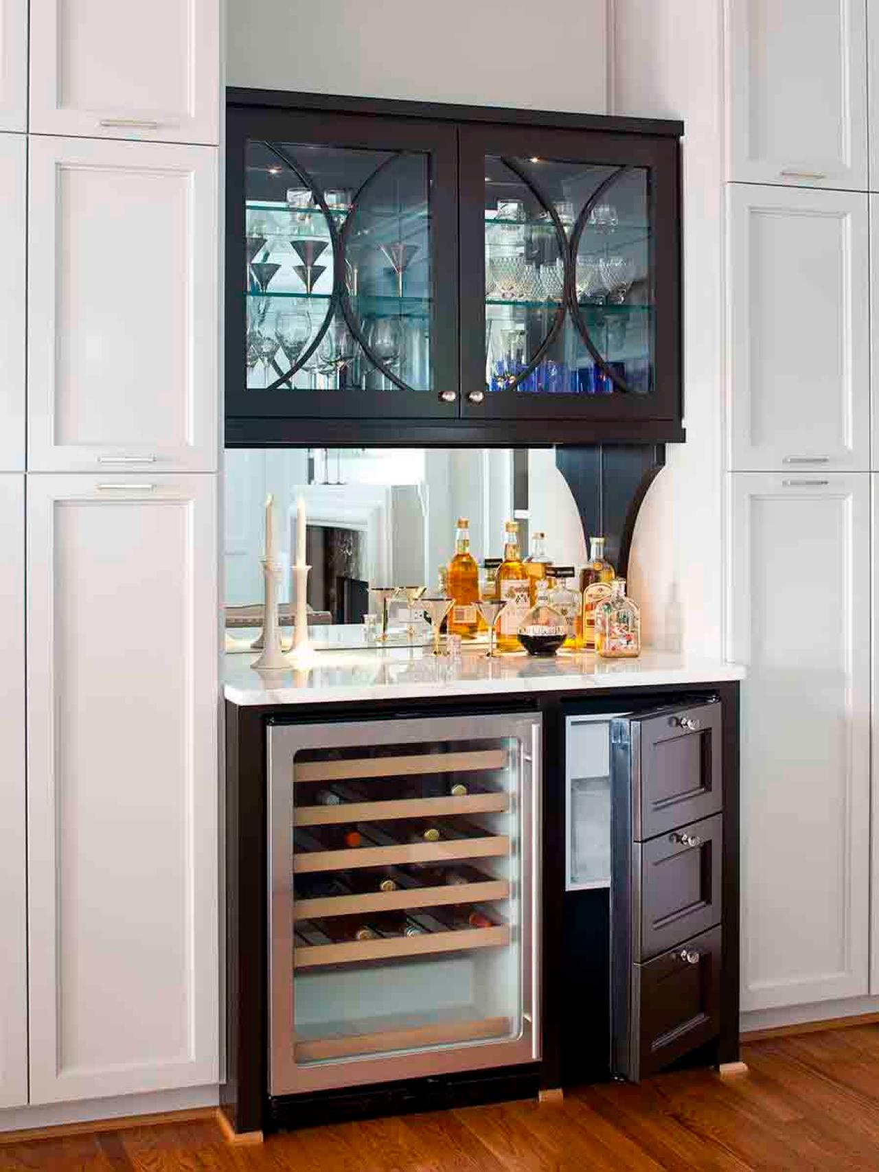 Transitional Black Wet Bar Hgtv