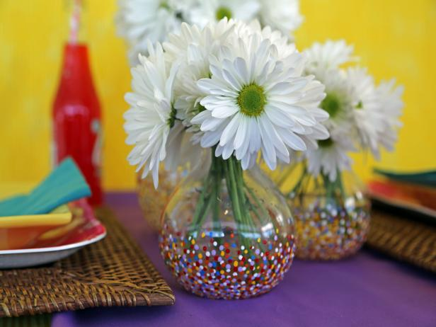 Confetti-Dotted Vases