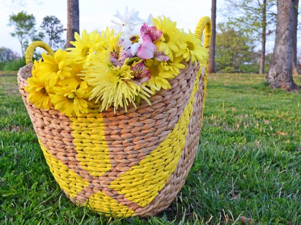 Painted Market Basket