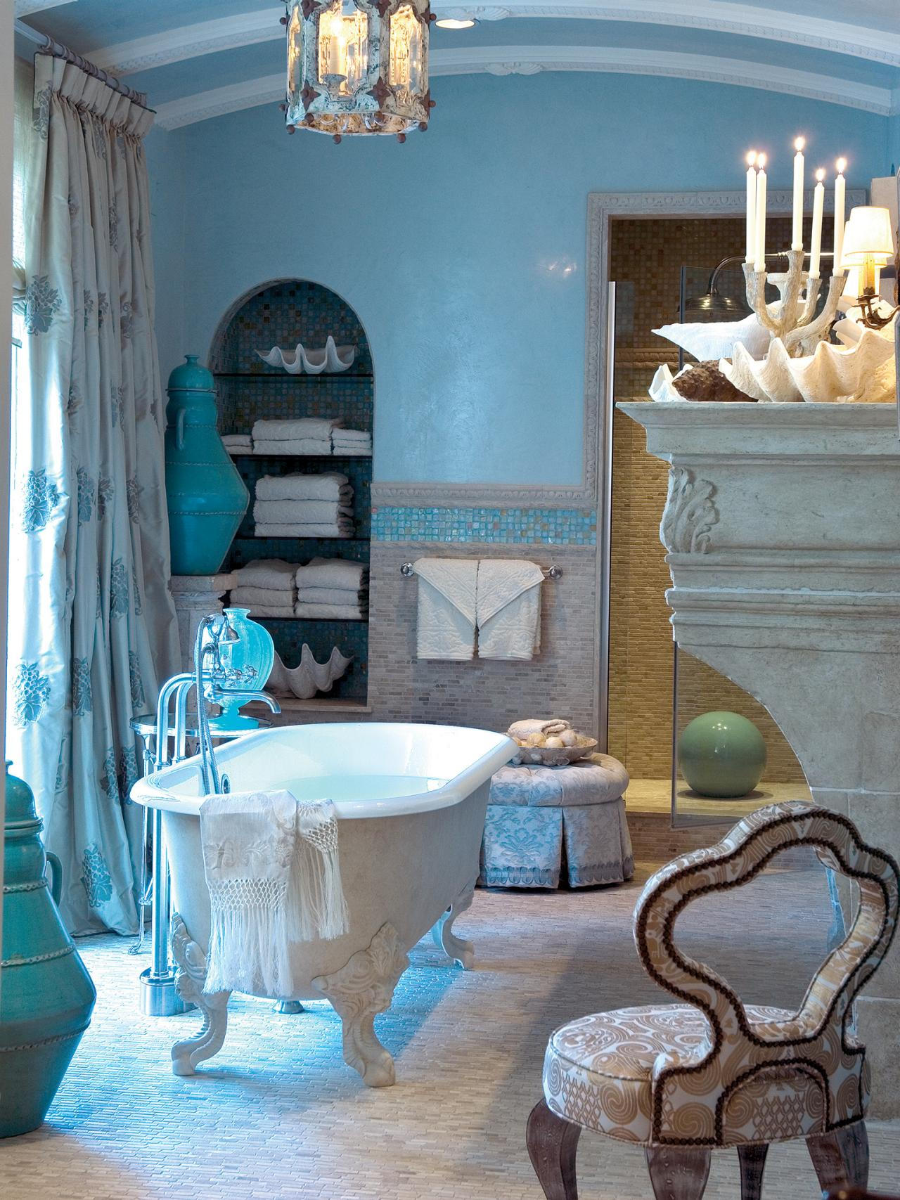 Bathroom Decorating Ideas Blue tropical bathroom decor: pictures, ideas & tips from hgtv | hgtv