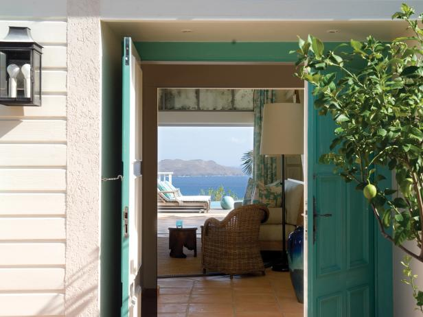 Turquoise Front Doors With Ocean View