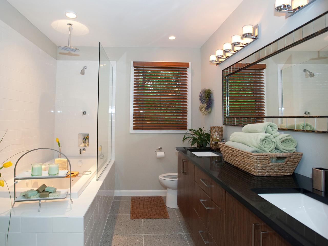 Modern bathroom design ideas pictures tips from hgtv for House bathroom design