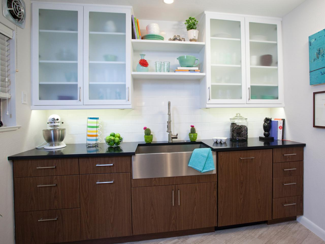 refinishing kitchen cabinet ideas: pictures & tips from hgtv | hgtv