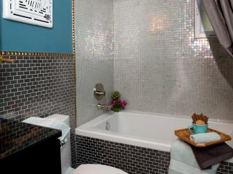 Glass Tile Backsplash & Bathtub Surround