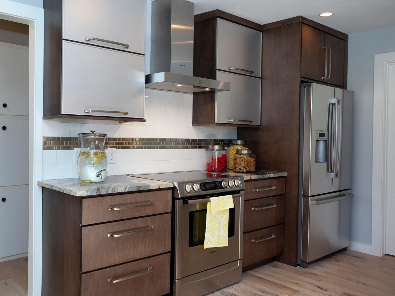 Stainless Steel Kitchen Cabinet Doors Refinishing Kitchen Cabinet Ideas Pictures & Tips From Hgtv  Hgtv
