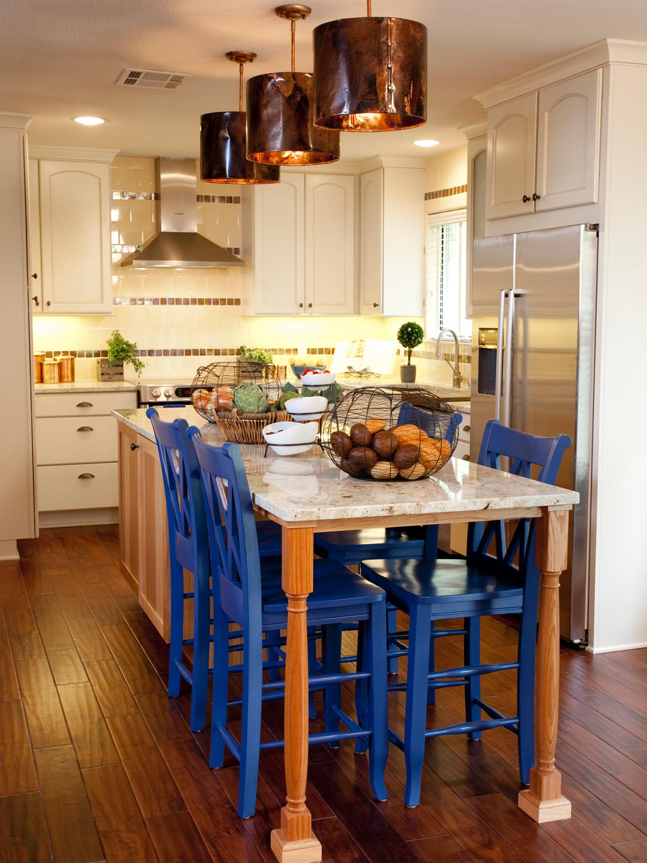 kitchen island with stools hgtv