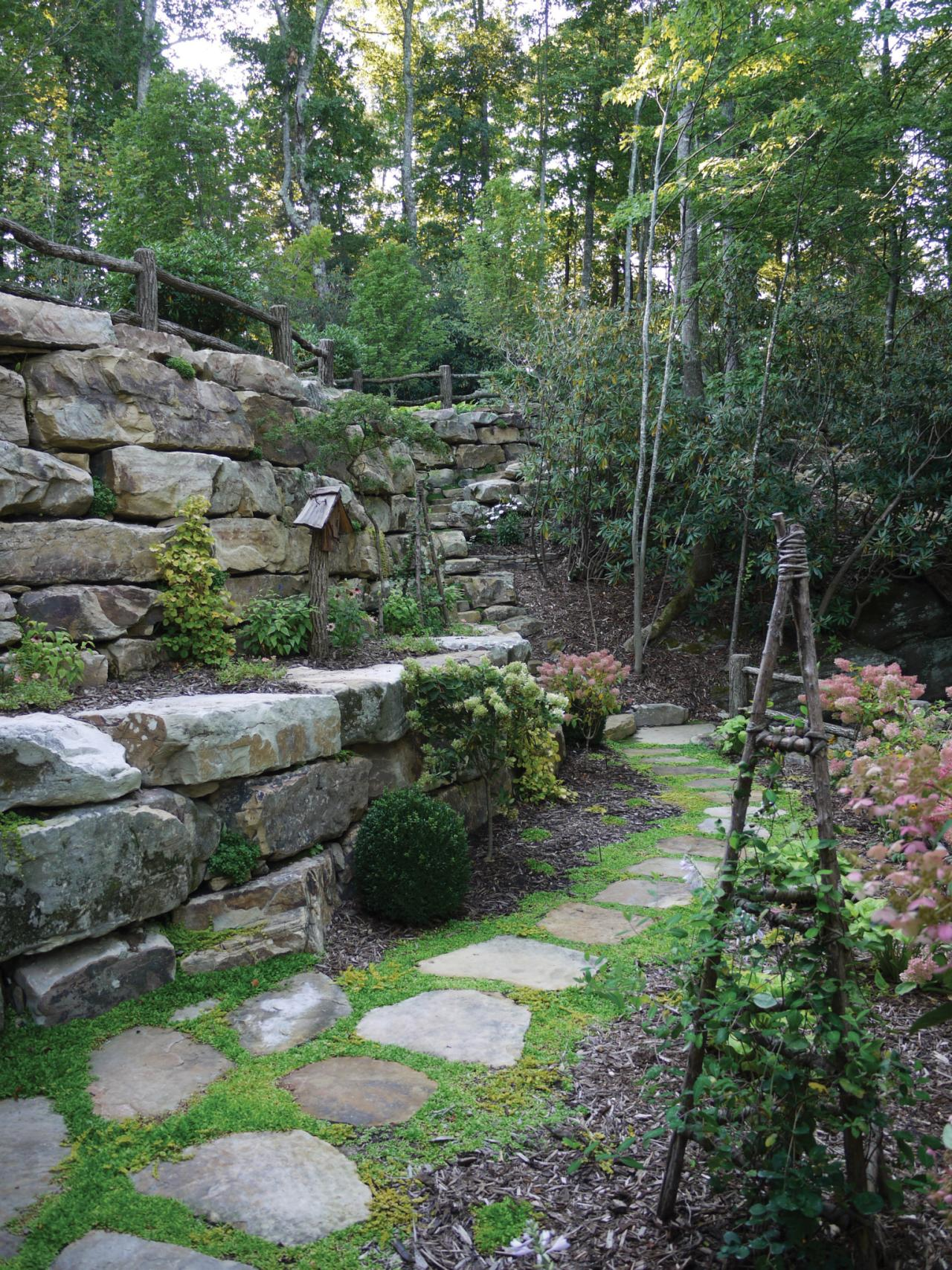 Photos hgtv for Rock wall garden designs