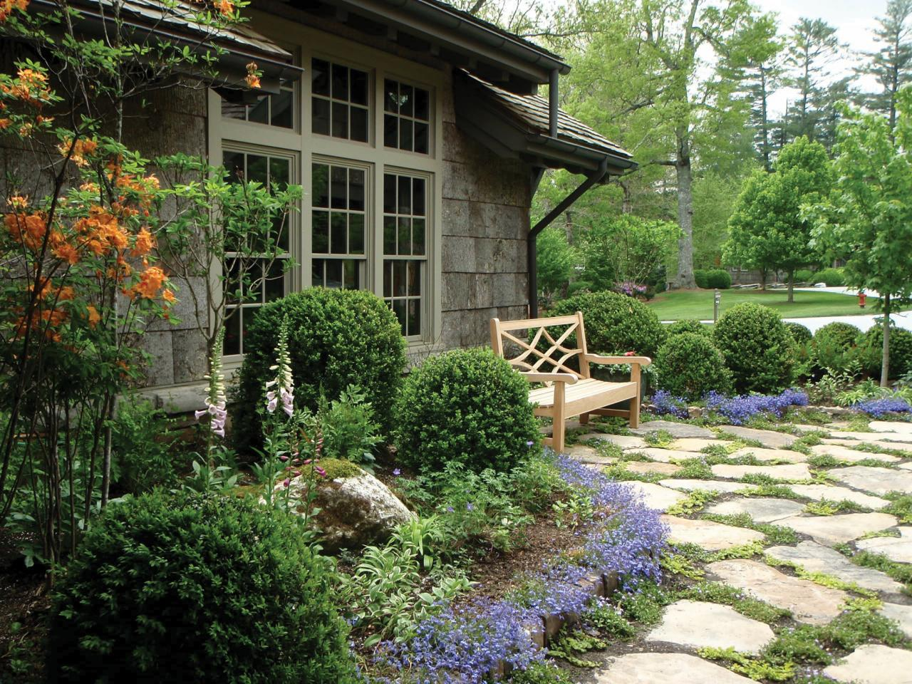 Charming Cottage Garden With Flagstone Pavers This Outdoor
