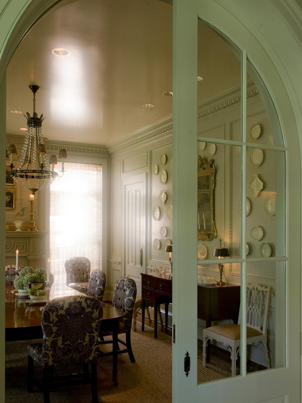 1707 #2B2010 Arched Pocket Door In French Country Dining Room Arched Glass Pocket  picture/photo Arched Doors With Glass 42191280