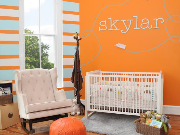 Bright orange nursery