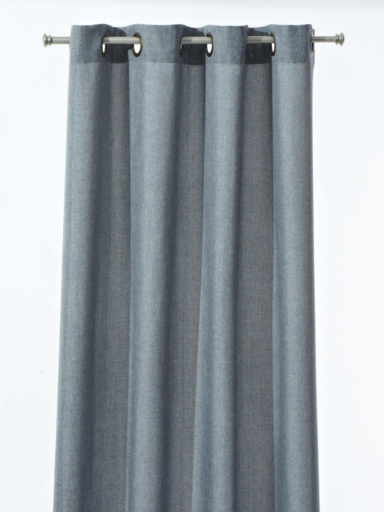 neutral blue jaclyn smith today 52 x 84 hopsack panel in slate blue $ ...