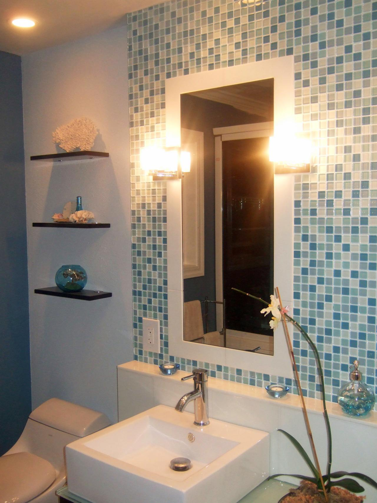 Photo page hgtv Bathroom designs with tile backsplashes