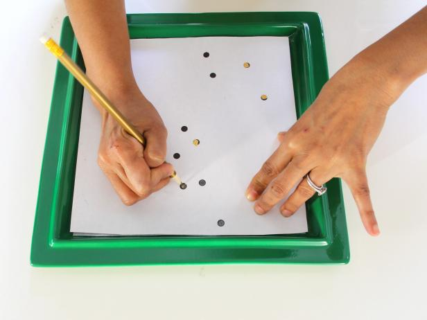 Tracing Dots on a Printable to Create a Personalized Constellation Tray