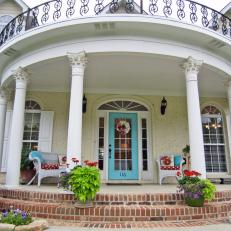 Greek Revival-Style Front Porch