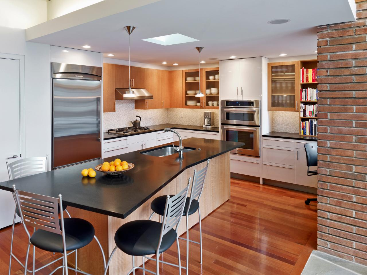 Modern Small Kitchen With Island small kitchen appliances: pictures, ideas & tips from hgtv | hgtv