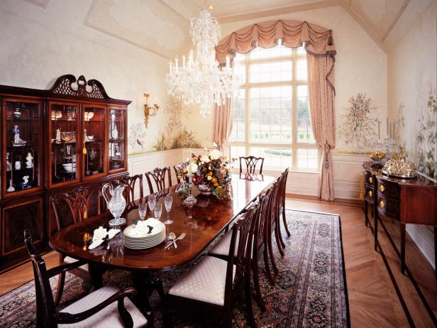 Formal Dining Room With 12-Seat Dining Table