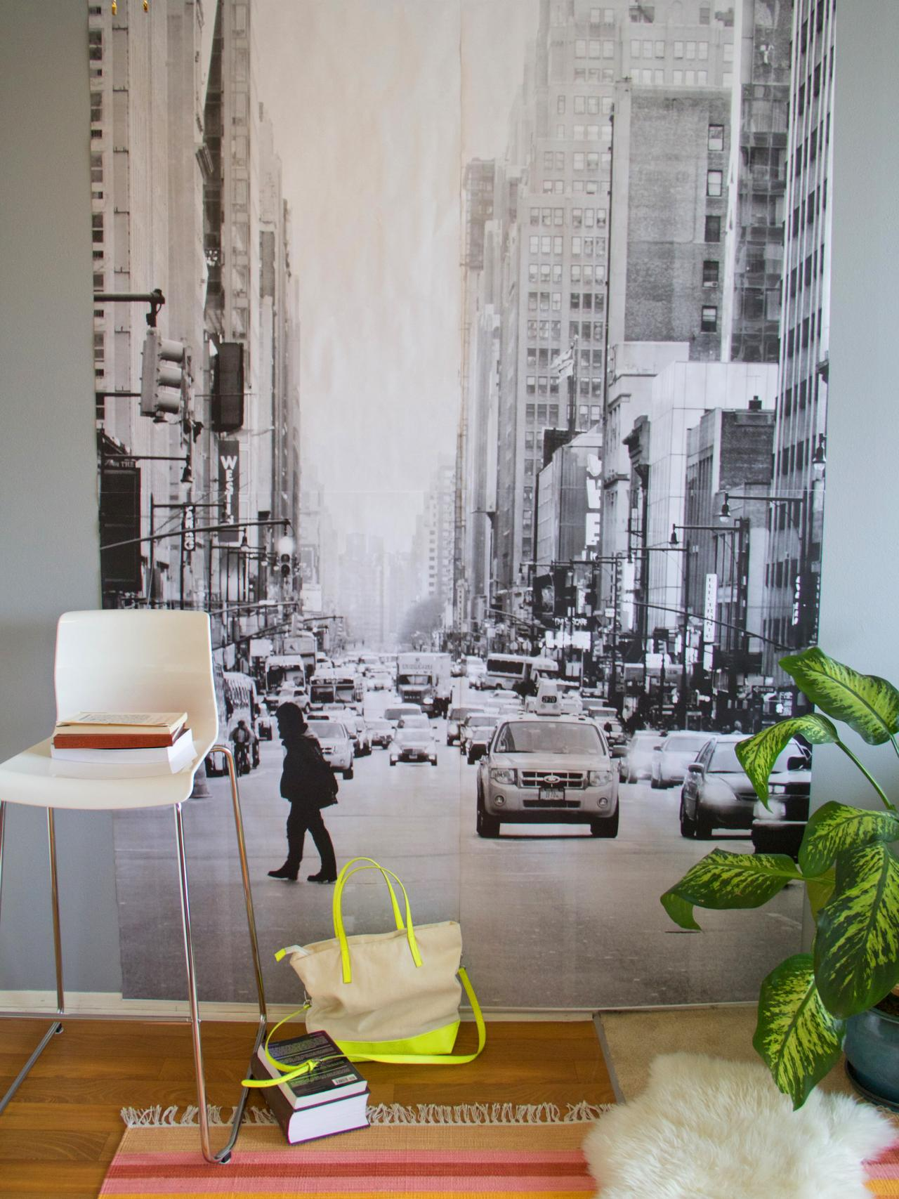 Diy wall mural hgtv for Diy photographic mural